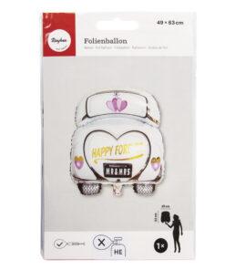 Folienballon Topper Hochzeitsauto
