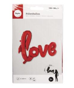 Folienballon Love