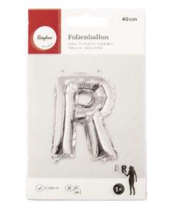 Folienballon Buchstabe R, zum Befüllen mit Luft
