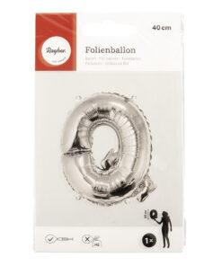 Folienballon Buchstabe Q, zum Befüllen mit Luft