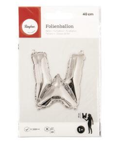 Folienballon Buchstabe W, zum Befüllen mit Luft