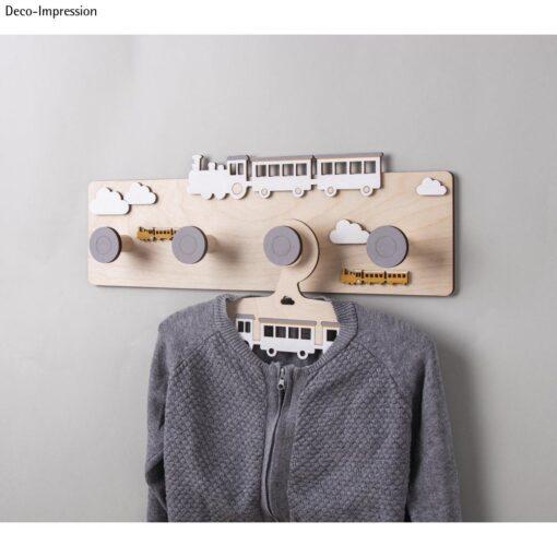 Holz Garderobe, Zug