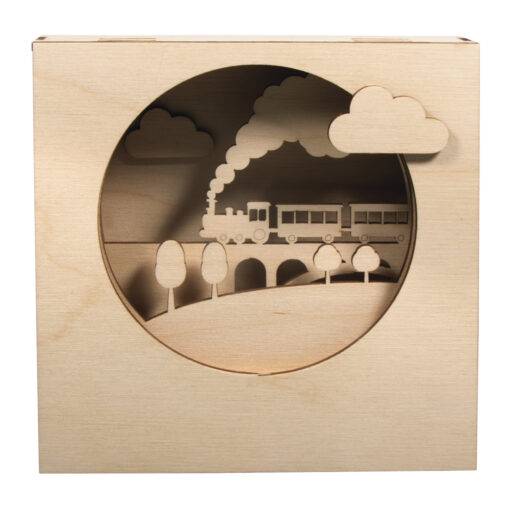 Holzbausatz 3D-Motivrahmen, Zug