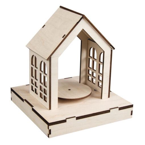 3D-Holz-Bausatz-Haus, zum Basteln und Gestalten