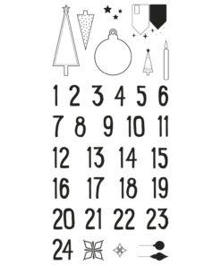 Rayher Clear-Stamps Adventskalender Nordic zum Gestalten