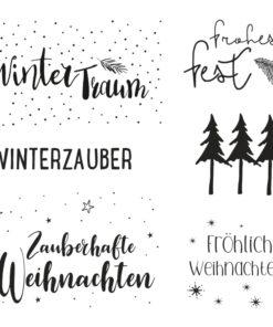 Rayher Clear Stamps Weihnachtsgrüße für Scrapbooking