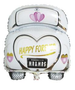 Folienballon Hochzeitsauto, zum Befüllen mit Luft oder Helium