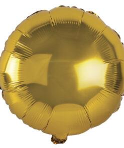 Folienballon gold, zum Befüllen mit Luft oder Helium