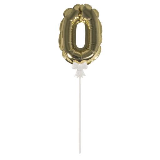 Folienballon Topper Zahl 0 zum Dekorieren