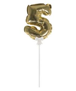 Folienballon Topper Zahl 5 zum Dekorieren