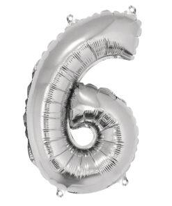 Folienluftballon 6, zum Befüllen mit Luft