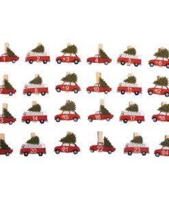 Holz-Adventszahlen Autos, zum Basteln und Gestalten