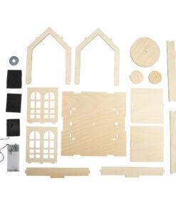 Bausatz Haus aus Holz mit Drehteller