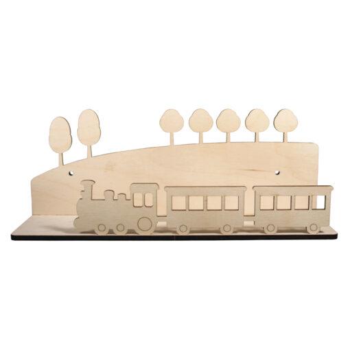 Holzbausatz Regal Zug zum Basteln und Gestalten