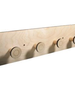 Holz-Garderobe zum Basteln und Gestalten