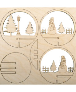 Holz-Steckteile Schneemann, zum Bemalen und Dekorieren