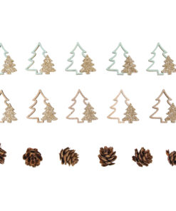 Holz-Streuteile Tannenbäume+Zapfen zum Streuen und Dekorieren