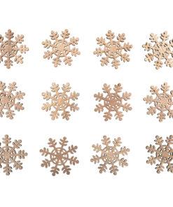 Holz Streuteile Schneeflocke zum Basteln und Dekorieren