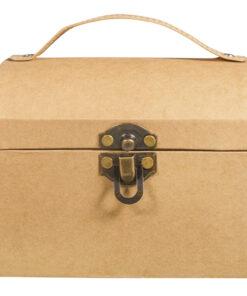 Pappmaché Koffer mit Verschluss
