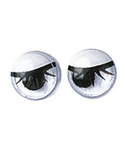 Wackelaugen mit Wimpern, 7mm,, zum Kleben