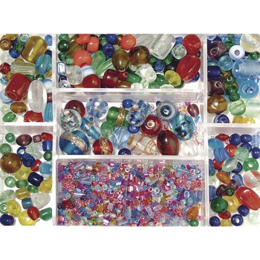 Glasperlen Box zur Schmuckherstellung