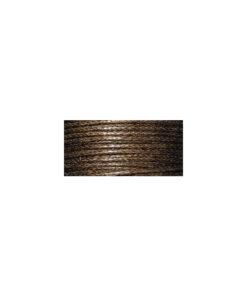 Baumwollkordel, gewachst, 1mm, SB-Karte 20 m, d.braun