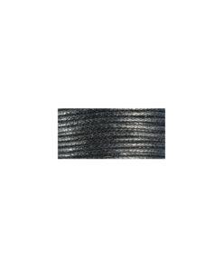 Baumwollkordel, gewachst, 1mm, SB-Karte 20 m, schwarz