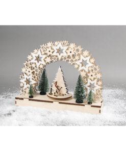 Holz 3D Bausatz Sterne mit Tannenbaum
