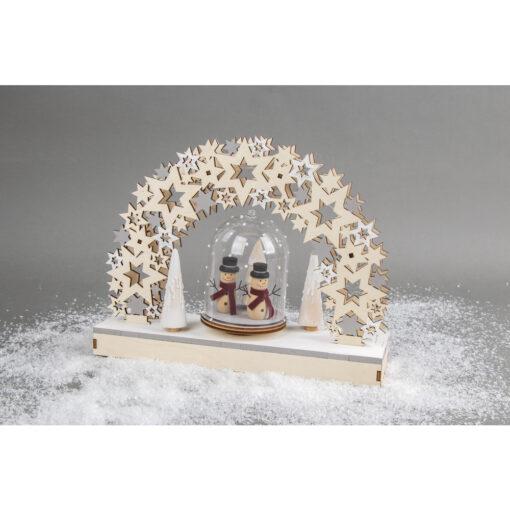 Holz 3D Bausatz Sterne mit Schneemännern