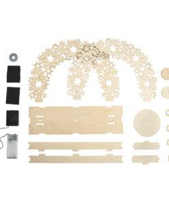 Holz 3D Bausatz Sterne Materialen