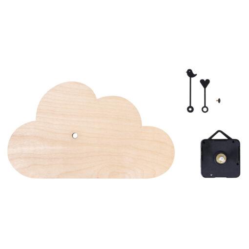 Bastelpackung, Wanduhr Wolke mit Uhrwerk und Zeigern