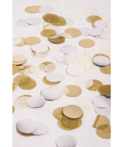 Konfetti silber gold weiß creme 2cm ø