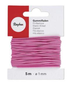 Gummifaden, pink, zur Schmuckgestaltung