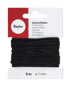 Gummifaden 1mm Ø, zur Schmuckgestaltung