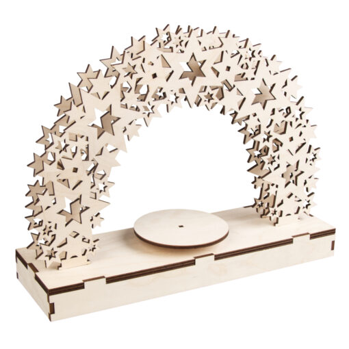 Rayher 3D Holz-Bausatz Sterne, natur