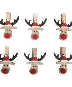 Holzklammern Weihnachtselch zum Basteln und Dekorieren