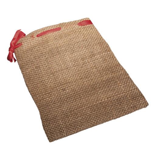 Rayher Jute-Säckchen mit rotem Band