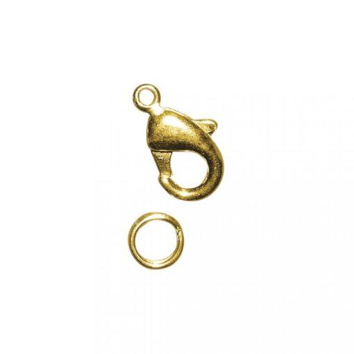 Karabiner-Schließe mit Ring