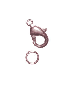Karabiner-Schließe mit Ring, rosé