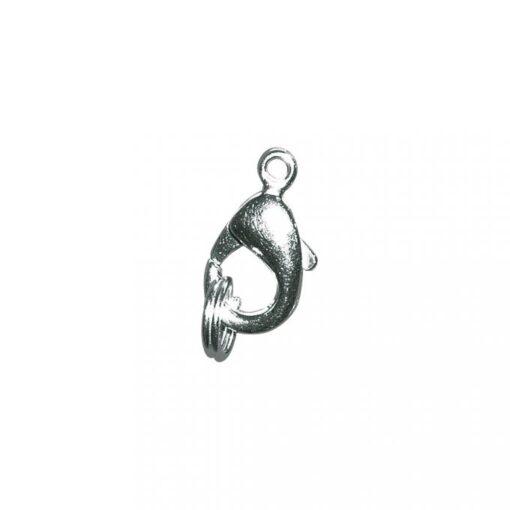 Karabiner-Schließe mit Ring, 9,5mm