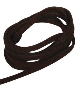 Micro-Wildlederband, dunkelbraun