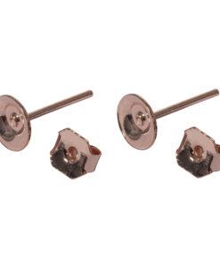Ohrstecker mit Platine, 6mm Ø, zur Schmuckgestaltung