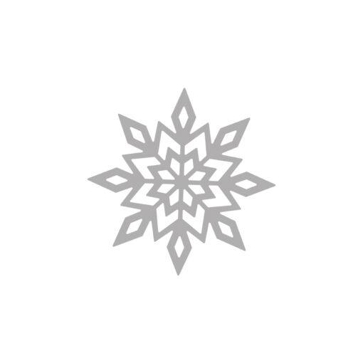 Stanzschablone Schneeflocke zum Stanzen