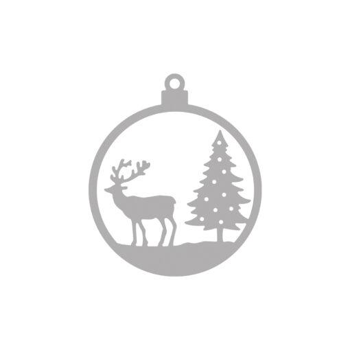 Stanzschablone Weihnachtskugel Hirsch zum Stanzen