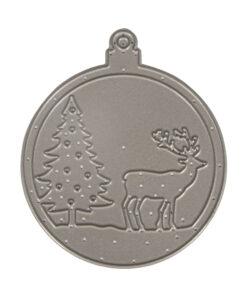Stanzschablone Weihnachtskugel Hirsch, 1 Stück