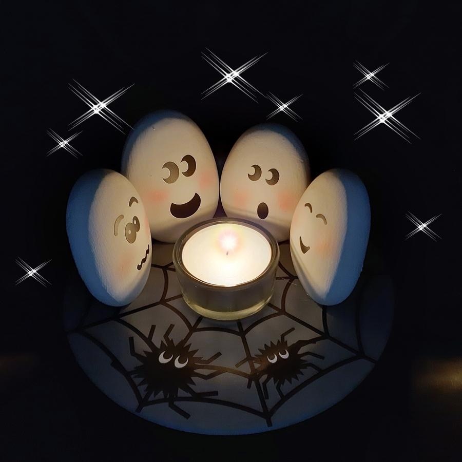 Geisterstunde mit Gespenstern.
