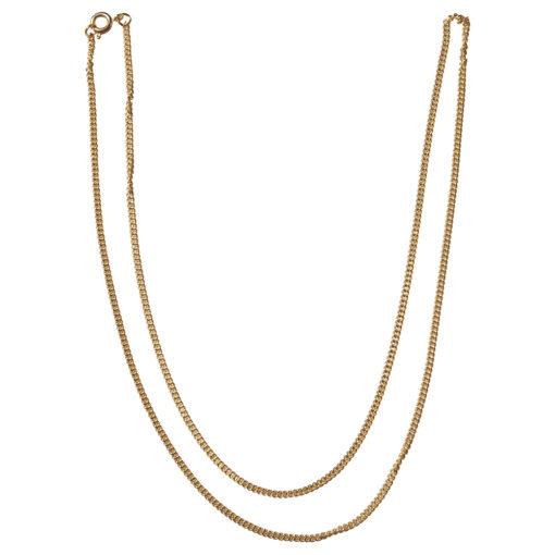Ankerkette, vergoldet, mit Federring, für Anhänger