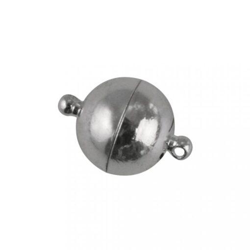 Magnetverschluss, extra stark, echt versilbert, 14mm Ø
