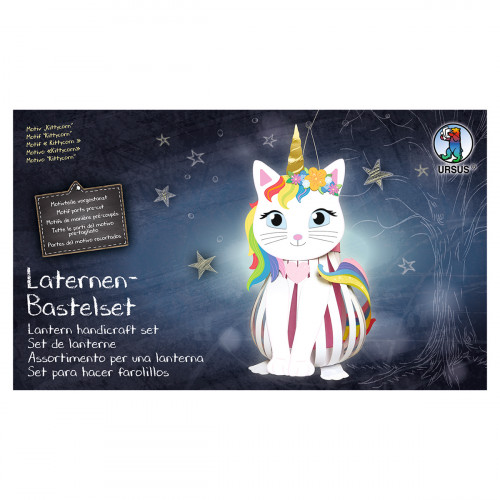 Ursus Laternen-Bastelset Kittycorn