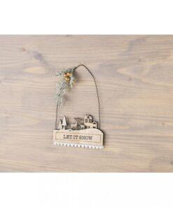 Dekoidee Mini-Pompon Borte weiß